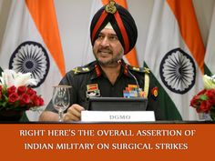 Much less than two weeks after the militant assault in Uri, India has confirmed that surgical strikes were performed in opposition to the line of control. Right here's Indian army's Director widespread of army Operations, Lt General Ranbir Singh's complete statement on the operations: