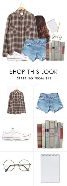 """Library"" by aweaver-2 on Polyvore featuring Levi's, Converse, ZeroUV and Paper Mate"