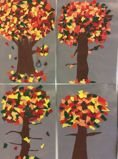 Winter Crafts For Kids, Autumn Crafts, Autumn Art, Autumn Trees, Diy For Kids, Class Art Projects, Thankful Tree, Best Teacher Gifts, Arts And Crafts