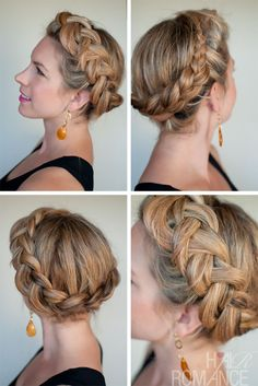 Hair Romance - 30 braids 30 days - 22 - Dutch crown braid