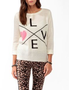 #Forever21                #love                     #Longline #Love #Sweater #FOREVER #2027705996       Longline Love Sweater | FOREVER 21 - 2027705996                               http://www.seapai.com/product.aspx?PID=107999