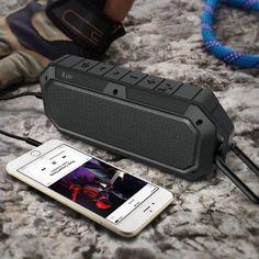 Waterproof Shockproof Dustproof Rugged Outdoor Bluetooth Speaker with Carabiner - $50