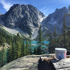 Breathtaking geocache location. Image from @lilvicory at GCJZXT. What's the most beautiful location you've discovered a geocache? #geocaching #pnw #view