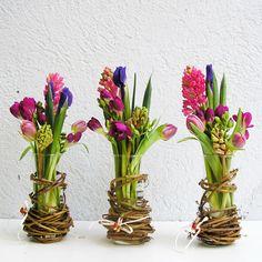 ♆ Blissful Bouquets ♆ gorgeous wedding bouquets, flower arrangements & floral centerpieces - trio of spring arrangements