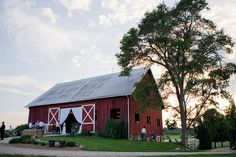 THIS IS MY DREAM! Having property with a great Barn for Weddings!! :)  Red barn reception | photography by http://www.harrison-studio.com/