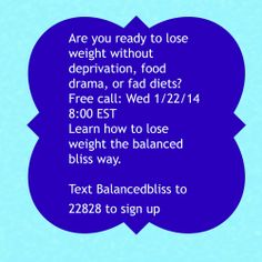 Join me for a free call Real people weight loss by #BalancedBliss #RPWL