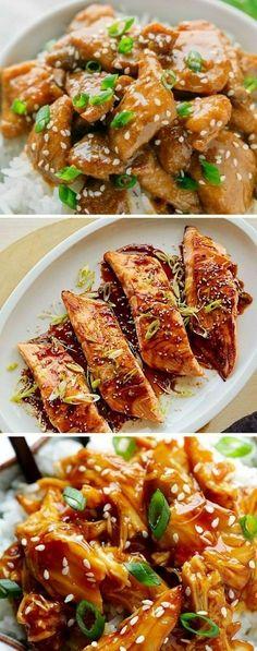 How to make Teriyaki Chicken with homemade sauce - Korean Food Ideen Homemade Teriyaki Sauce, Homemade Sauce, Asian Recipes, Mexican Food Recipes, Healthy Recipes, China Food, Deli Food, Teriyaki Chicken, Mets