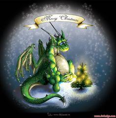 Christmas Dragon by JR-Design