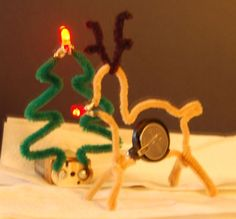Check out this holiday-themed STEM project — Christmas circuits!