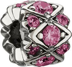 "Authentic Chamilia Charm ""Shimmering Stones"" - Pink Swarovski JB-36D. Authentic Chamilia Charm ""Shimmering Stones"" - Pink Swarovski. JB-36D. Sterling Silver & CZ. Pandora/Troll Compatible."