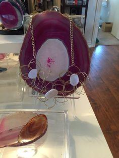 Flower Druzy necklace Www.lvcr8.com #lvcr8