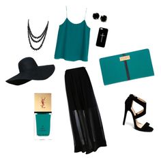 A fashion look from June 2015 featuring blue shirt, long skirts and strap sandals. Browse and shop related looks. Carven, Henri Bendel, Elegant Outfit, Bling Jewelry, Strap Sandals, Casetify, Yves Saint Laurent, Mango, Summer Outfits