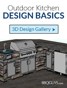 Let our experts sketch up a free design for you with all the essentials to show you exactly what will work in your outdoor space. Sink Faucets, Sinks, Outdoor Refrigerator, Bbq Bar, Service Program, Design Basics, Kitchen Gallery, Trash Bins, The Essential