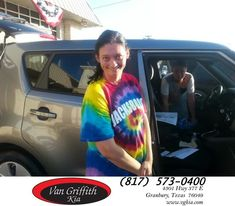 Happy Anniversary to Kelley on your #Kia #Soul from Michael Garr at Van Griffith Kia!  https://deliverymaxx.com/DealerReviews.aspx?DealerCode=PXVJ  #Anniversary #VanGriffithKia