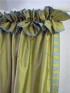 Love the ruffles and striped trim