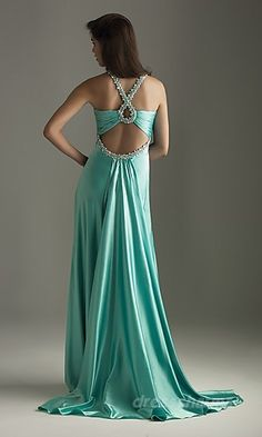 Sweep Train Keyhole Sexy Satin A-line Beaded Prom Dress Evening Dresses, Prom Dresses, Formal Dresses, Dress Prom, Bridesmaid Dress, Dresses 2014, Dress Long, Reception Dresses, Evening Attire