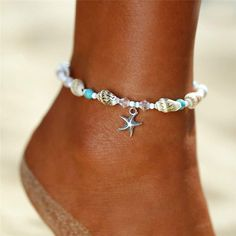 2019 Fine Sexy Anklet Bracelet Cheville Barefoot Sandals Foot Jewelry Leg Chain On Foot Pulsera For Women Beach Summer Beach Jewelry, Boho Jewelry, Jewelry Accessories, Chain Jewelry, Handmade Jewelry, Fashion Jewelry, Leg Chain, Ankle Chain, Bracelets Bleus