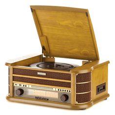 Gramofon Hyundai Retro z CD RTCC 513 RIP posiada wiele dodatkowych funkcji między innymi funkcje RIP - konwertowanie muzyki z dowolnego źródła do formatu MP3 bez użycia komputera. Sprzęt posiada gwarancję producenta. Turntable, Multimedia, Family Room, Usb, Record Player, Family Rooms, Living Room, Drawing Rooms