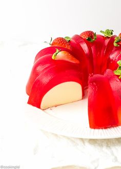 Milk Strawberry Jell-O Mold Bundt Cake Recipe
