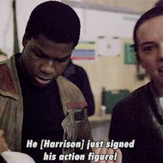 Just imagine John Boyega's fanboying face XD