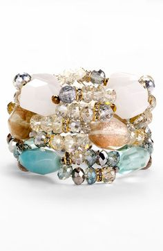 Nordstrom 'Beach Glass' Stretch Bracelet