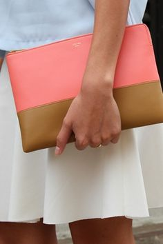 Love this clutch!!! The Only 5 Handbags You Need in Your Life   via @PureWow