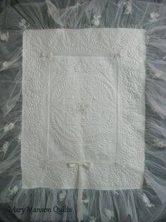 A blog about quilts made from wedding dresses by Mary Manson Quilts