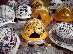 Helmet art, Umbrella Movement