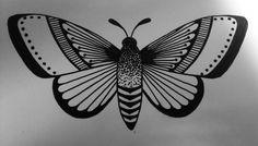 Simple moth tattoo design
