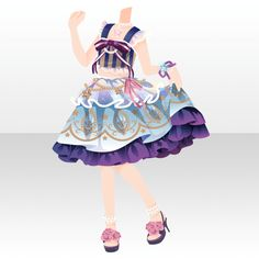 Dress Drawing, Drawing Clothes, Chibi, Character Costumes, Character Outfits, Anime Outfits, Cute Outfits, Fashion Games For Girls, Anime Uniform