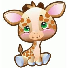 Precious Moments Giraffe from the Silhouette Design Store Cute Cartoon Images, Cute Images, Calin Gif, Baby Animals, Cute Animals, Cute Clipart, Silhouette Design, Cute Drawings, Baby Quilts