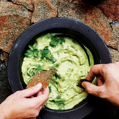 Avocado Cream Recipe - Bon Appétit. Can freeze puréed avocados and use for this recipe