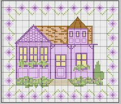 maison - house - point de croix - cross stitch - Blog : http://broderiemimie44.canalblog.com/