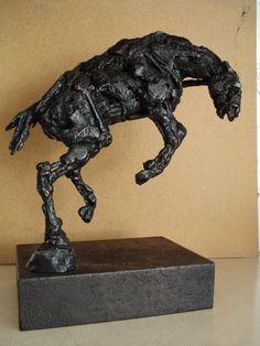 Bronze/Steel Rodeo Horse study 2 by emmawalkersculpture.com