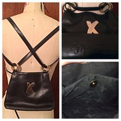 Authenic vintage Paloma Picasso supple black leather by thePERFECT, $25.00