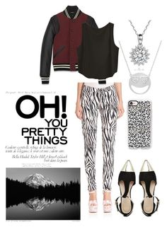 """""""Zebra"""" by obsessive-fashionista ❤ liked on Polyvore featuring Giamba, ASOS, Yves Saint Laurent, Amanda Rose Collection and Casetify"""