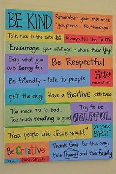 family rules - nice to make for hall