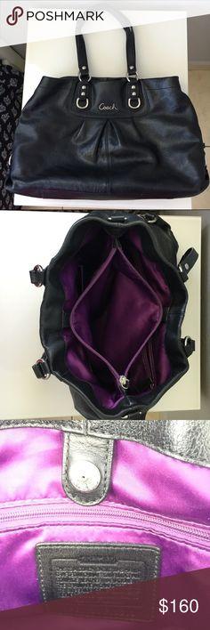 Original Coach Black Leather Bag Excellent Used Condition Coach Bags Shoulder Bags