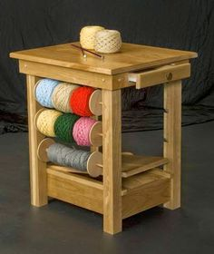 Art: Lovely idea from Knitting Crochet Tables. I just happen to have a carpenter for a dad! pjc