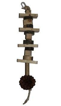 Jouet destructible en bois comestible et matériaux naturels pour perroquets - toy for parrot Boutique, Ring Necked Parakeet, Budgie Toys, Budgies, Parrots, Woodwind Instrument, Boutiques