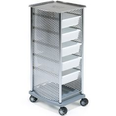 Rem Domino Ultra Salon Trolley Chrome With White Trays