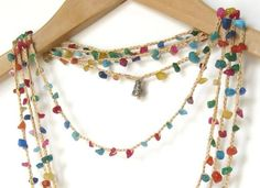 Multicolor Necklace with Natural Gemstone Chips by ElvishThings