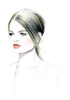 Fashion Illustrations - Collection of fashion illustrations from around the web from rough croquis to designer skecthes. Be inspired, study techniques or submit your own fashion art. Fashion Illustration Sketches, Fashion Sketches, Illustration Art, Liz Clements, Amazing Drawings, Beauty Hacks Video, Lovers Art, Fashion Art, Paper Fashion