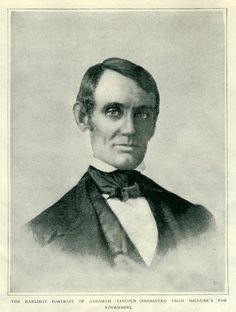 At the time this picture was published in 1896, it was thought to be the earliest portrait of Abraham Lincoln. The photo of the man who would become President is thought to have been taken in 1848, when Lincoln was 39 years old.