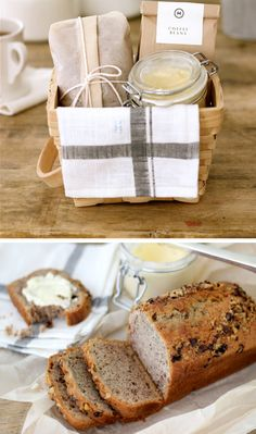 Banana Bread and Honey Butter Breakfast Gift Basket | #inspiredlivingomaha