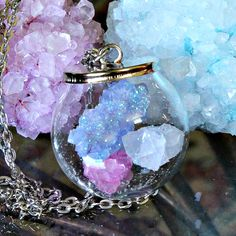 Grow your own crystals to make magical crystal ball jewelry!