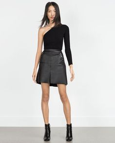 Image 1 of FAUX LEATHER SKIRT from Zara