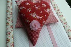 Coeur Tilda Nöel en tissu à suspendre avec par EmmaFlorenceParis