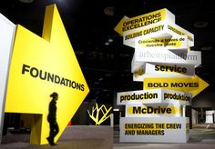 What an Impact! Arrows & ID Tower #graphics #signage #directional