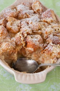 Glazed Doughnut Bread Pudding ~ Yummy... great recipe for those day old doughnuts!